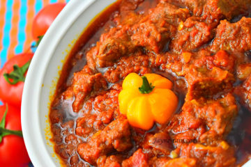 African beef stew