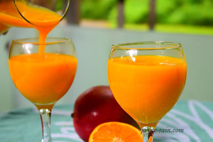 Mango Juice Recipe All Natural Jayne Rain