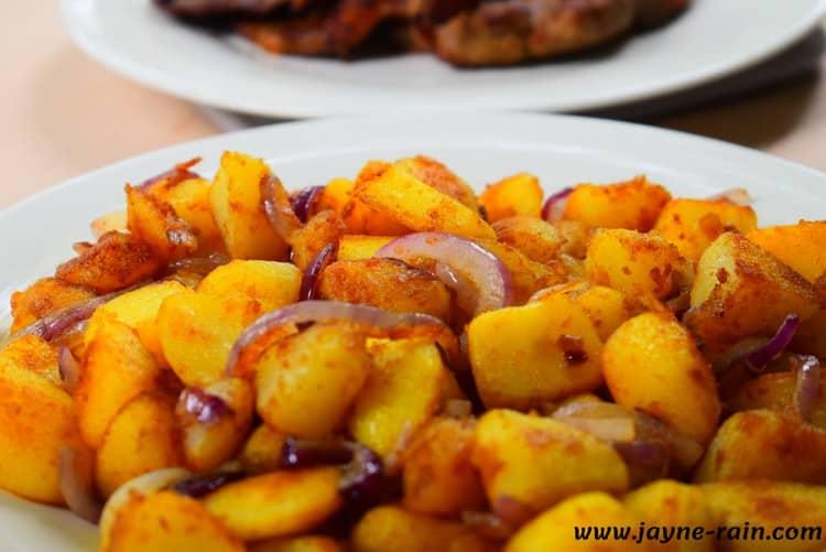 German skillet fried potatoes